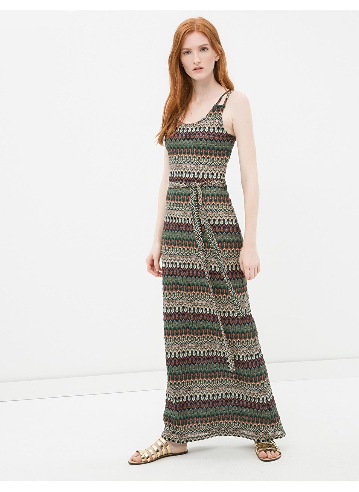 eebcb5e82d888 Koton Kadın Askılı Desenli Triko Elbise Green Desıgn | Morhipo ...